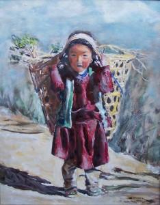 Nepáli serpa kislány